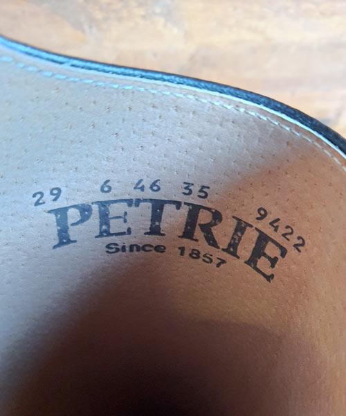 Reitstiefel Petrie Padova Innenansicht des Labels